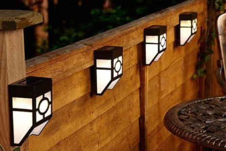 Electronic E Cig Store - Two, four, six or eight solar fence lights - Save 75%