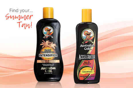 Pharmacy First - Australian Gold tanning accelerator oil or lotion - Save 60%