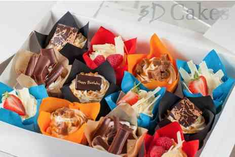 3D Cakes - Box of 12 luxury cupcakes from 3D Cakes choose to collect - Save 73%