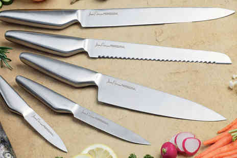 Jean Patrique - Five piece stainless steel knife set - Save 91%
