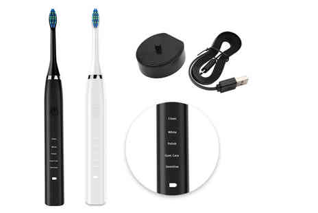 Maxwe - Sonic toothbrush set with travel box choose from two colours - Save 71%