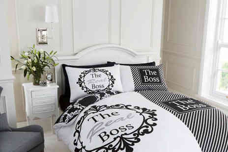 Luxury bed and warehouse - The Real Boss Duvet Cover Set Choose 6 Colours - Save 66%