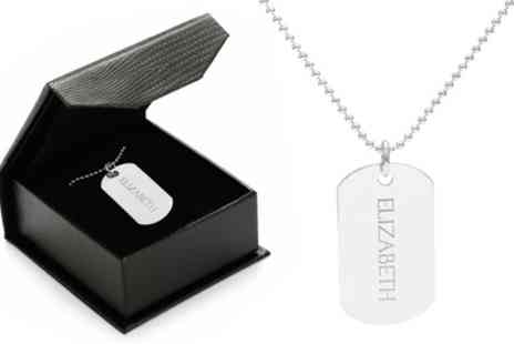 Jewells House - One, Two or Three Personalised Dog Tag Necklaces With Free Delivery - Save 71%