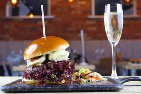 Burger and Bubbles - Burger and Cocktail for One or Two - Save 44%