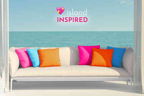 UK Beanbags - Set of Three Island inspired outdoor cushions - Save 60%