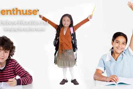 Enthuse Education - English & Maths Personalised Tuition for ages 5 to 11 Professional Recommended Tutors For Maths & English - Save 83%