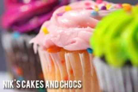 Nik's Cakes and Chocs - Six Cupcakes from Nik's Cakes and Chocs - Save 58%