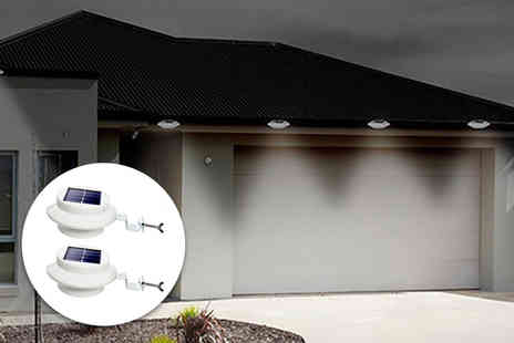 Electronic ECIG Store - Two packs of solar powered gutter lights - Save 0%