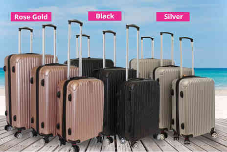 Pearl Info - A set of three hard shell suitcases with combination locks - Save 69%
