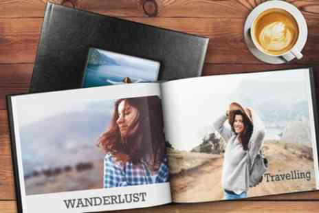 Printerpix - One or Two 20, 40 or 60 Page A4 or 20cm x 20cm Leather Window Photobooks - Save 83%