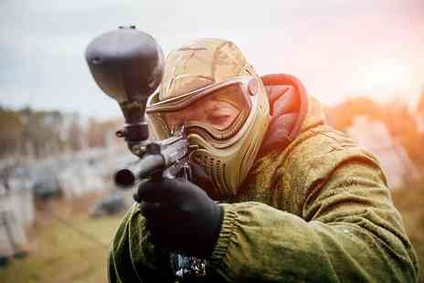 Paintball Network - Paintballing with 100 balls and a light lunch for 10 people - Save 96%