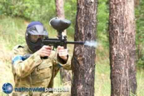 Nationwide Paintball - Day of paintballing for up to 5 people with 50 paintballs each - Save 93%