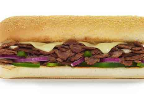 Subway - Six Inch or Foot Long Sub with Drink and Cookie or Crisps for Up to Four - Save 30%