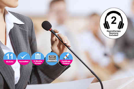 Kew Training Academy - Accredited public speaking course with two hypnotherapy sessions - Save 84%