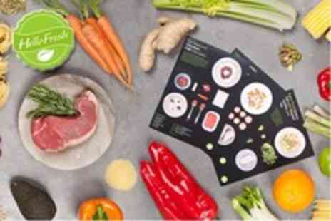 Hello Fresh - 3 Gourmet recipes including all ingredients for 2 people - Save 64%