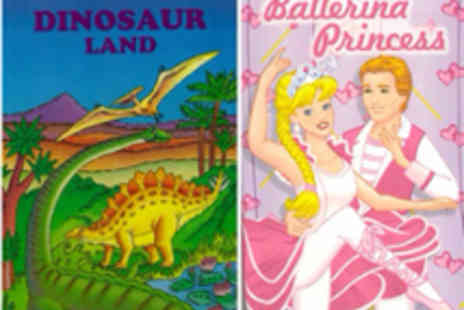 Star Stories - Personalised star story book  choose from Ballerina Princess or Dinosaur Land - Save 50%