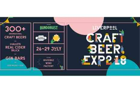 H1780 Tap And Still - One ticket to Liverpool Craft Beer Expo on 26 To 29 July - Save 50%
