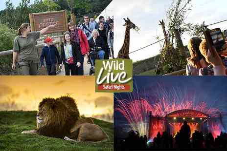 Yorkshire Wildlife Park - Two tickets or a family of four ticket to Wild Live Safari Nights - Save 50%