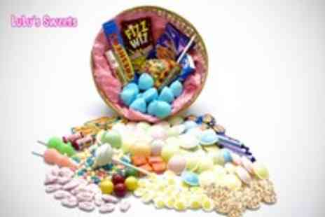 LuLus Sweets - Sweetie Gift Basket crammed with 20 different kinds of retro sweets - Save 60%