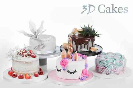 3D Cakes - Small celebration cake from award winning designer David Duncan - Save 77%