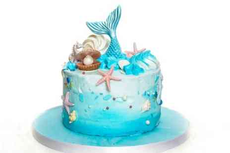 3D Cakes - Small, Medium or Large Mermaid or Anti Gravity Celebration Cake - Save 74%