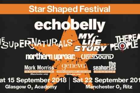 Star Shaped Festival 2018 - One ticket to Star Shaped Festival 2018 on 15 September in Glasgow, 22 September in Manchester - Save 30%