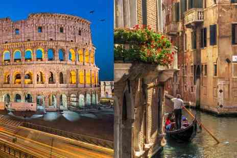 Book It Now Holidays - Four night Rome and Venice trip with two nights in each destination, trains and return flights - Save 22%