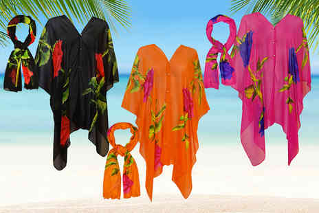 GameChanger Associates - 2 in 1 beach cover up and scarf choose from six colours - Save 71%