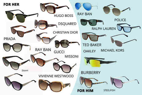 Brand Arena - Mystery sunglasses deal for him or her from Oakley, Ray Ban, MK, Gucci, Storm London, Prada, Dior, Burberry and more - Save 0%