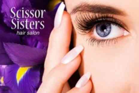 Scissor Sisters - Eyebrow Wax and Tint Plus Luxury French Manicure - Save 63%
