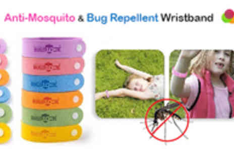 Adask Trading - Pack of 5 Anti Mosquito & Bug Repellent Wristbands - Save 67%
