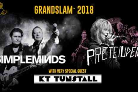 Liz Hobbs Group - Grandslam 2018 with Simple Minds, The Pretenders and Kt Tunstall on 3 August to 9 September - Save 50%
