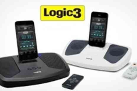 Logic3 - i Station12 iPhone and iPod Dock Speakers in Black or White - Save 52%