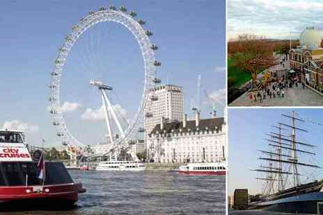 City Cruises - Cutty Sark and Royal Observatory Entrance & Thames Cruise Pass - Save 25%