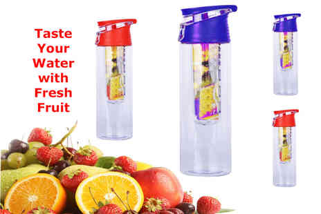TMD Global - 800ml fruit infusing water bottle in blue or red - Save 75%