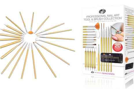Groupon Goods Global GmbH - Rio Beauty Nail Art Tool and Brush Collection - Save 0%