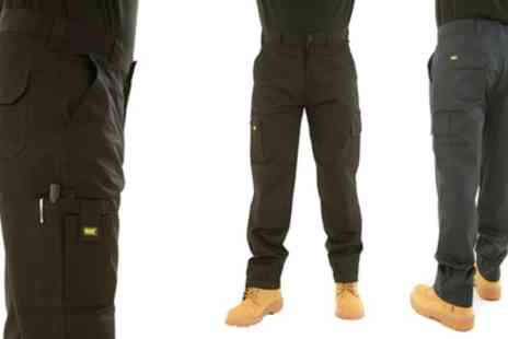 Groupon Goods Global GmbH - Mig Mud Ice Gravel Mens Cargo Work Trousers - Save 44%