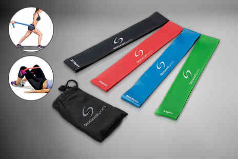 Direct E Trade - Four piece loop resistance band set - Save 67%