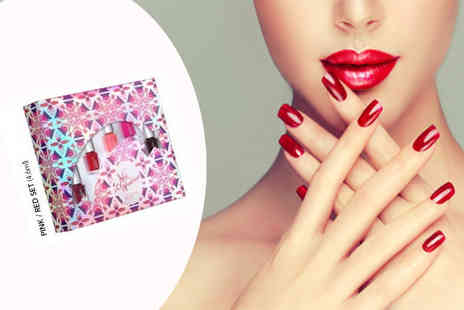 Ckent - Leighton Denny nail gift set with pink and reds - Save 74%