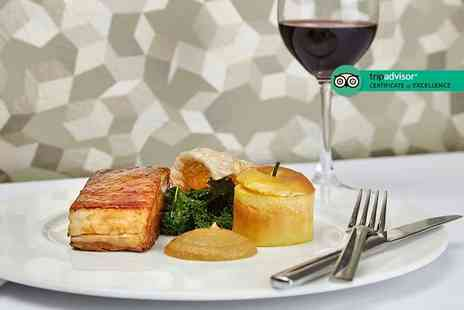 Podium Restaurant - Three course dining for two people with a bottle of wine to share - Save 64%
