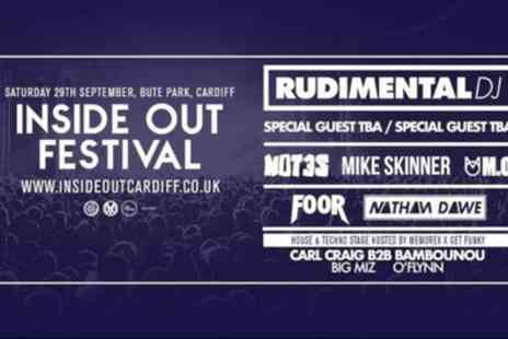 Red Shark Promotions - Inside Out Festival Featuring Rudimental on 29 September - Save 9%