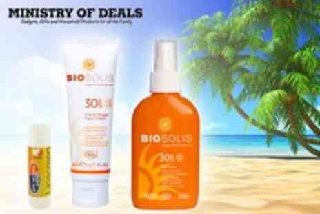 Ministry of Deals - Biosolis holiday set, inc. SPF30 face cream, SPF30 sun spray - Save 63%