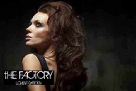 The Factory Covent Garden - Makeover & photoshoot for 2 inc hair styling, makeup, facial, bubbly plus 2 prints - Save 96%