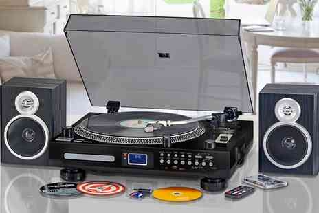 Groupon Goods Global GmbH - Zennox Professional Turntable and Recordable Music Centre With Free Delivery - Save 0%