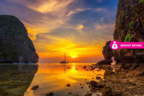 Great Pacific Travels - Ten night Bangkok, Phuket and Phi Phi, Thailand break with breakfast, ferry and return flights - Save 35%