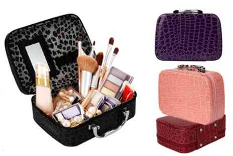 Groupon Goods Global GmbH - One or Two Crocodile Pattern Makeup Boxes - Save 77%