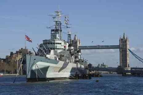 London top sight tours - Go on board HMS Belfast & See over 20 top London Sights tour - Save 0%