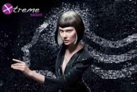 Xtreme salon - Half Head Highlights or Full Head Colour With Cut, Conditioning Treatment and Blow Dry - Save 69%