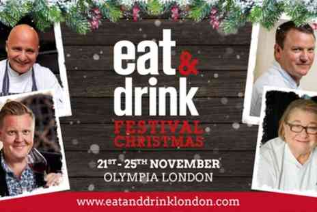 Eat And Drink Festival - Two adult tickets to Christmas Eat and Drink Festival on 21 To 25  November - Save 53%