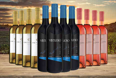 Q Regalo - Case of 12 mixed white, red and rose wines - Save 68%